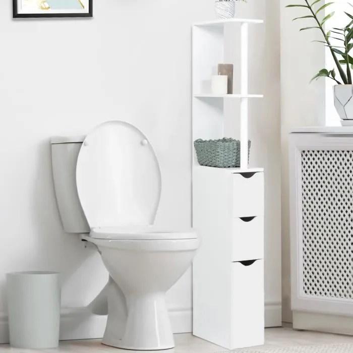 meuble wc bois blanc
