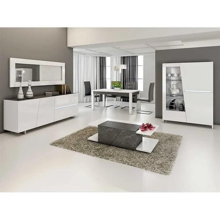 salle a manger complete gris beton et blanc laurea