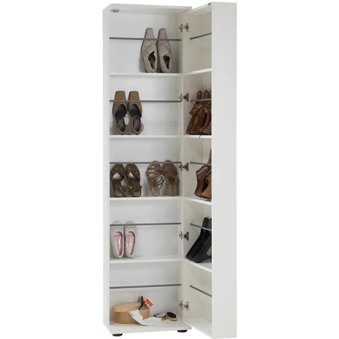 armoire meuble a chaussures avec porte miroir banc dim 47 x 190 x 29 5 cm