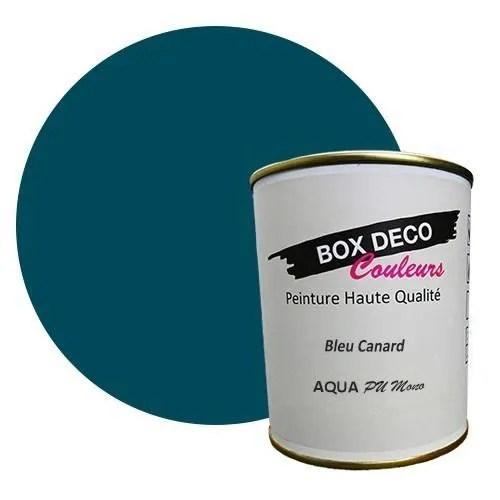 peinture meuble bleu canard