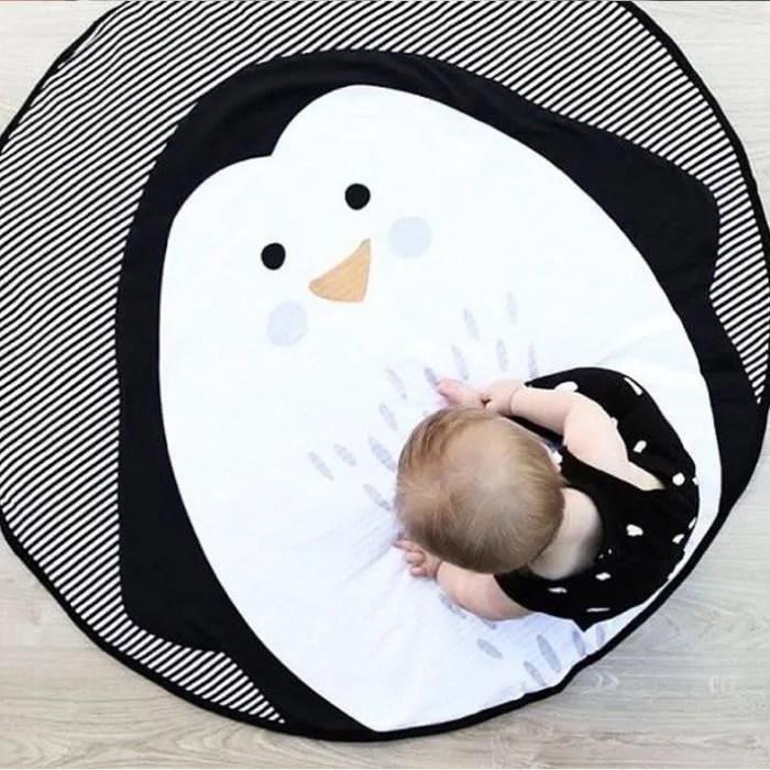 tapis de sol pour enfants tapis de pingouin animal