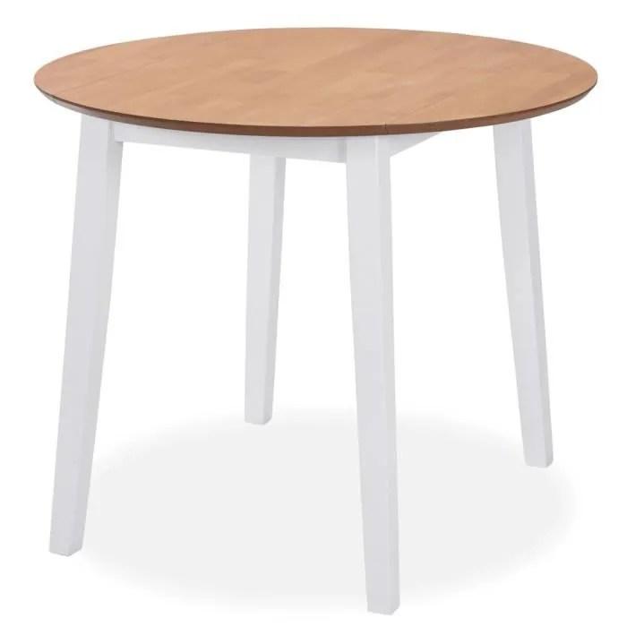 table ronde avec rallonge salle a manger