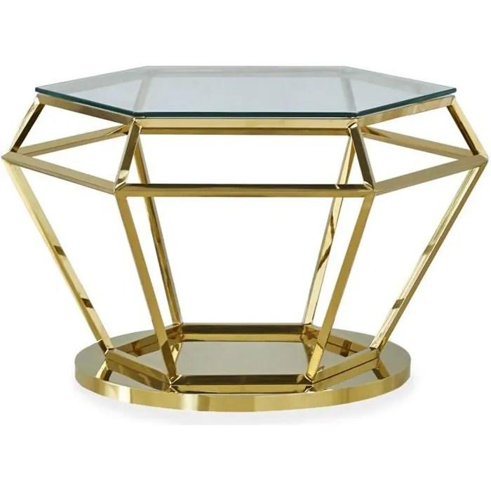 table basse aston en verre transparent