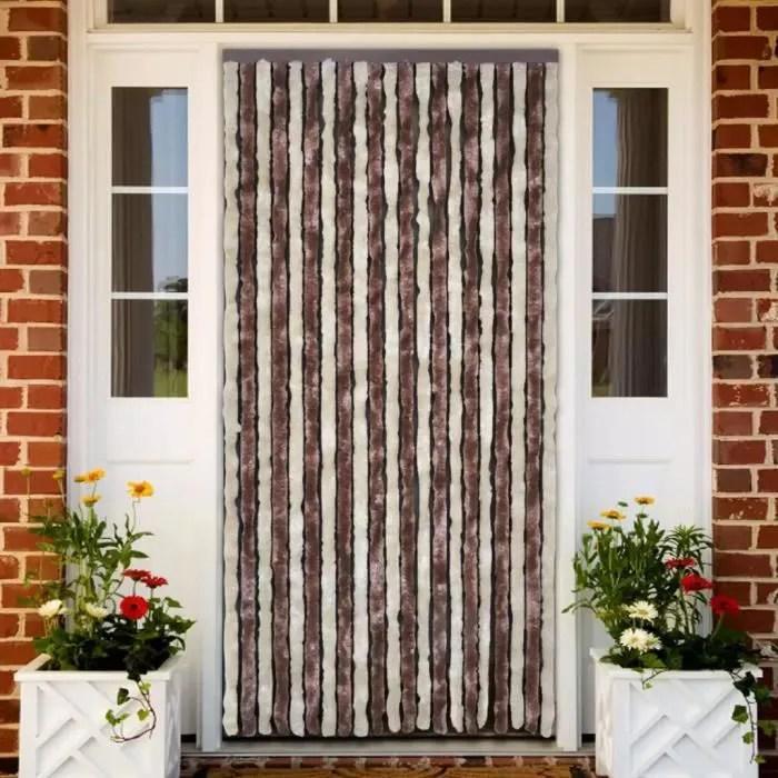 rideau de porte 100 220 cm rideaux chenille fenetr