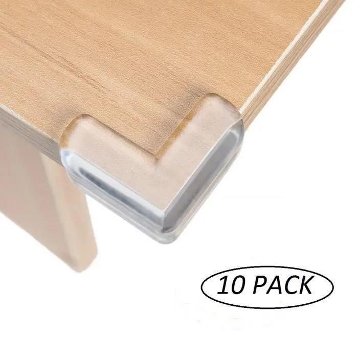 lot de 10 protection coin de table pour securite bebe transparent protege coin de meubles protection d angle pour enfants b02385