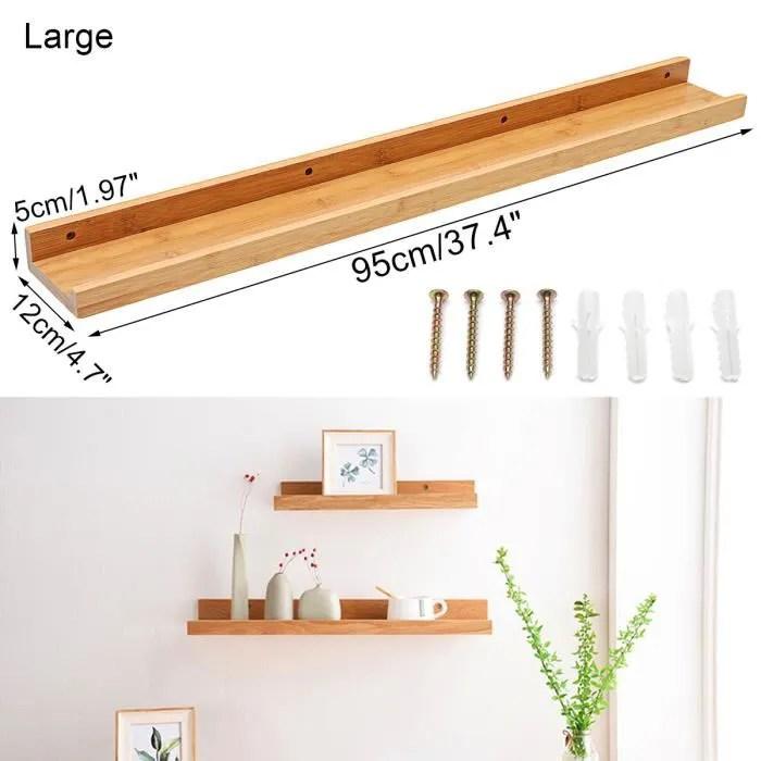 tempsa retro ancien bois etagere murale equerre credence rangement rayonnage stockage chambre salon decoration maison 95 12 5cm