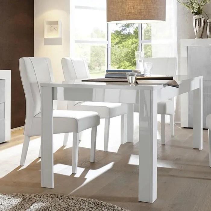 table a manger blanc laque design