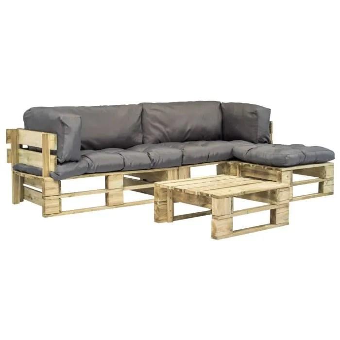vidaxl mobilier de jardin 4 pcs