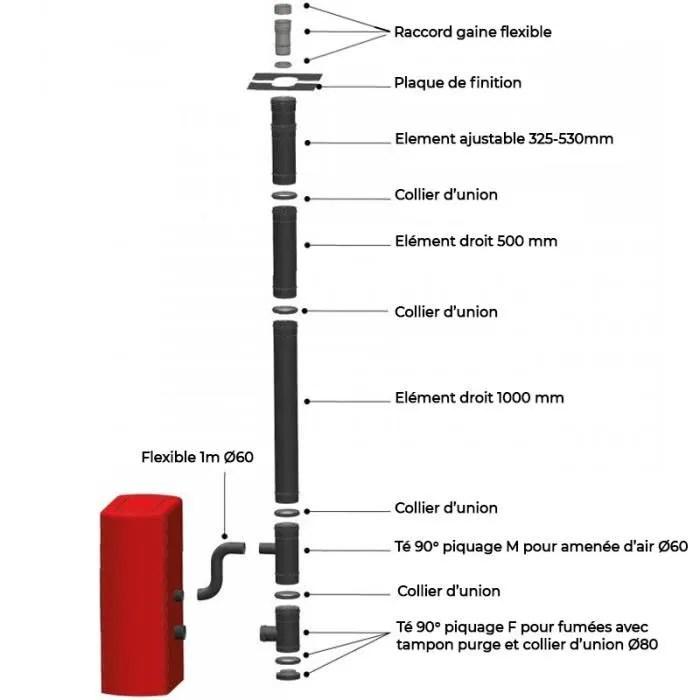 kit interieur pour raccordement vertical avant tub