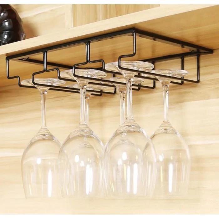3 rails porte verres a pied suspendu bar maison noir support rack a verre cocktail biere a suspendre vitrine cabinet porte tasse
