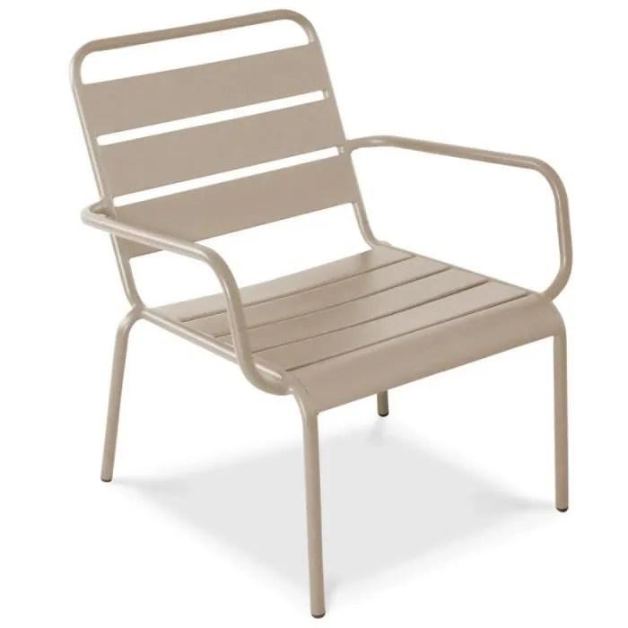 fauteuil de jardin bas en metal chaise relax pou