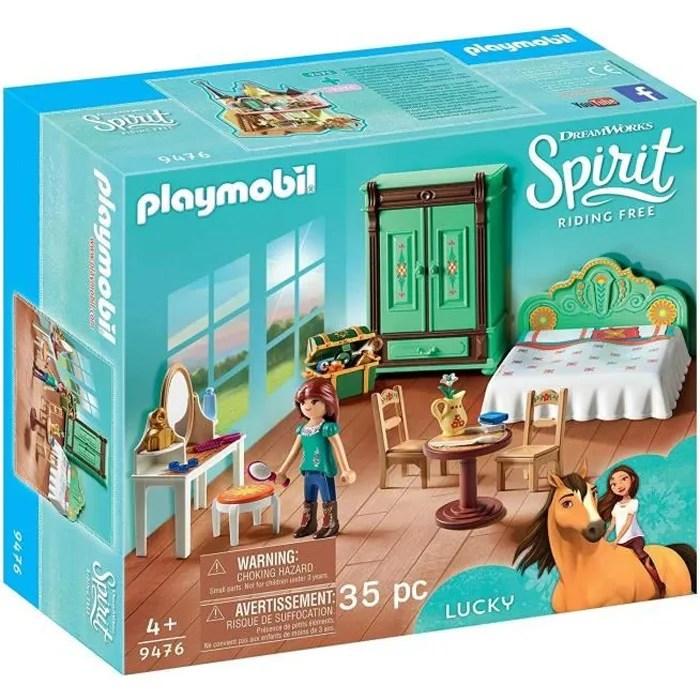 playmobil 9476 spirit chambre de lucky