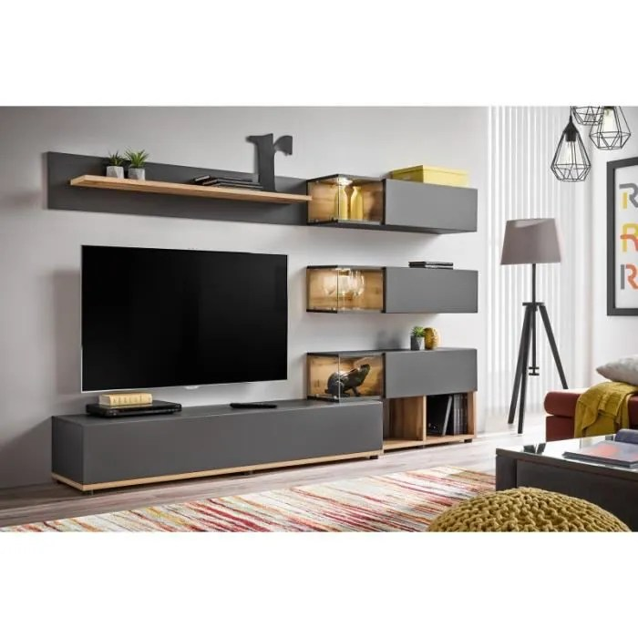 ensemble murale meuble tv silk 6