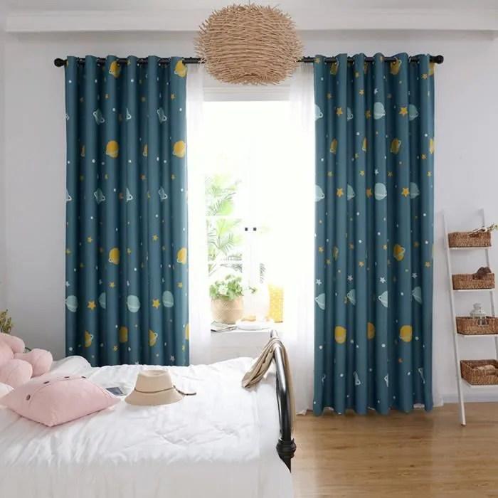 1pcs 200x270cm rideaux occultants thermiques avec motif rideaux salon moderne rideaux occulantes chambre enfant adulte etoile