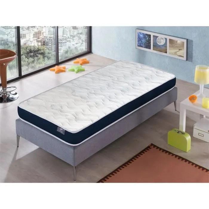 matelas 90x190 ergo confort epaisseur 14 cm rembourrage super soft juvenil ideal pour les lits gigognes