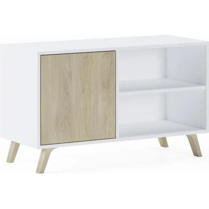 meuble tv 100 avec porte a gauche salon modele w