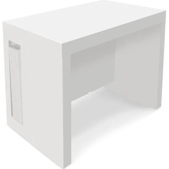 table console extensible loki blanc laque 12 personnes