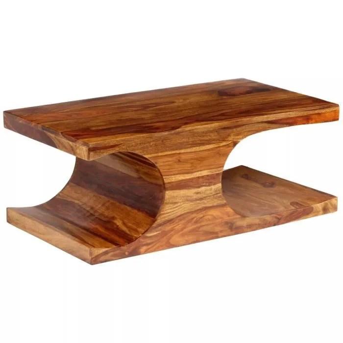classique table basse table de salon bois massif de sesham 90 x 50 x 35 cm