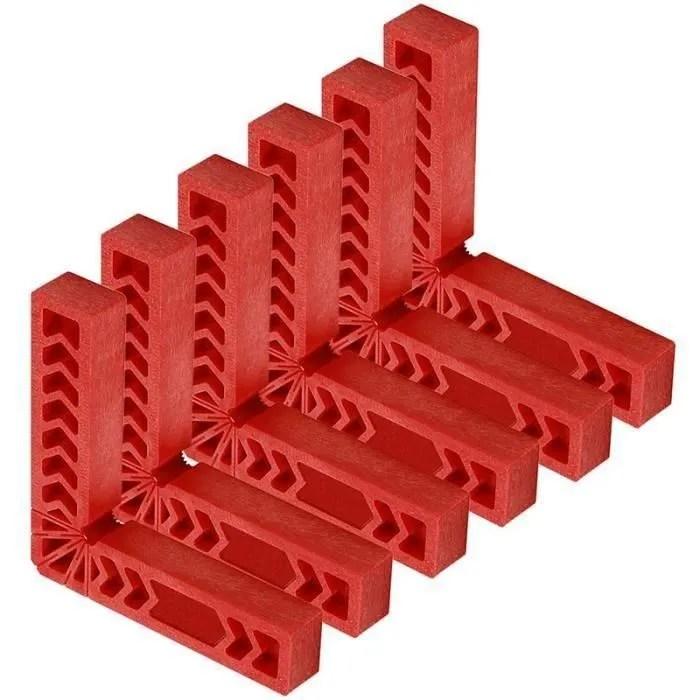 6 pieces series 6 pouces de positionnement a 90 de