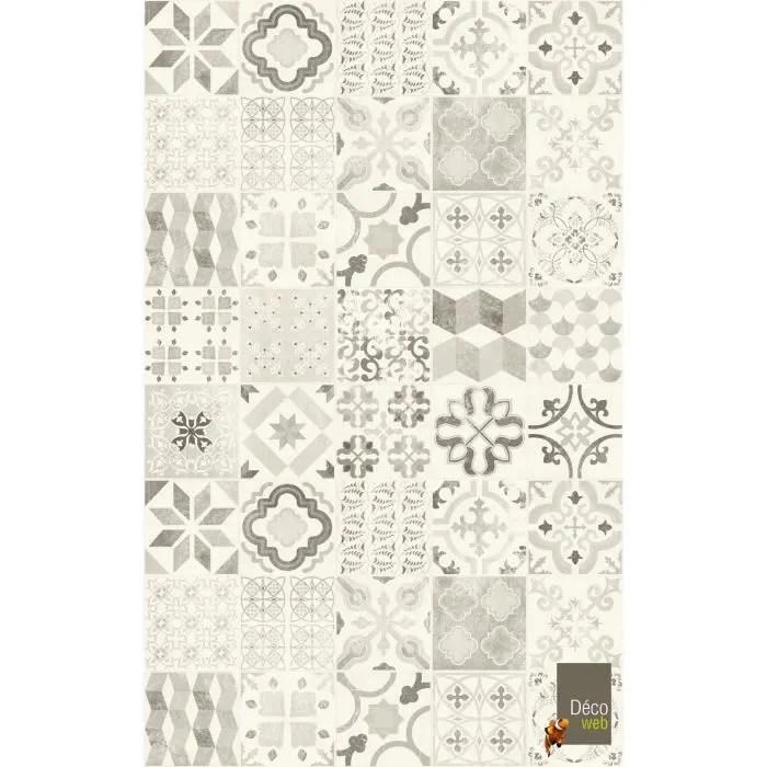tapis vinyle 100 x 160 cm carreaux de ciment noi