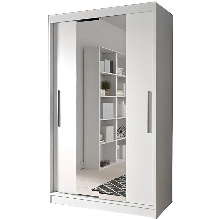 armoire de chambre avec miroir 2 portes