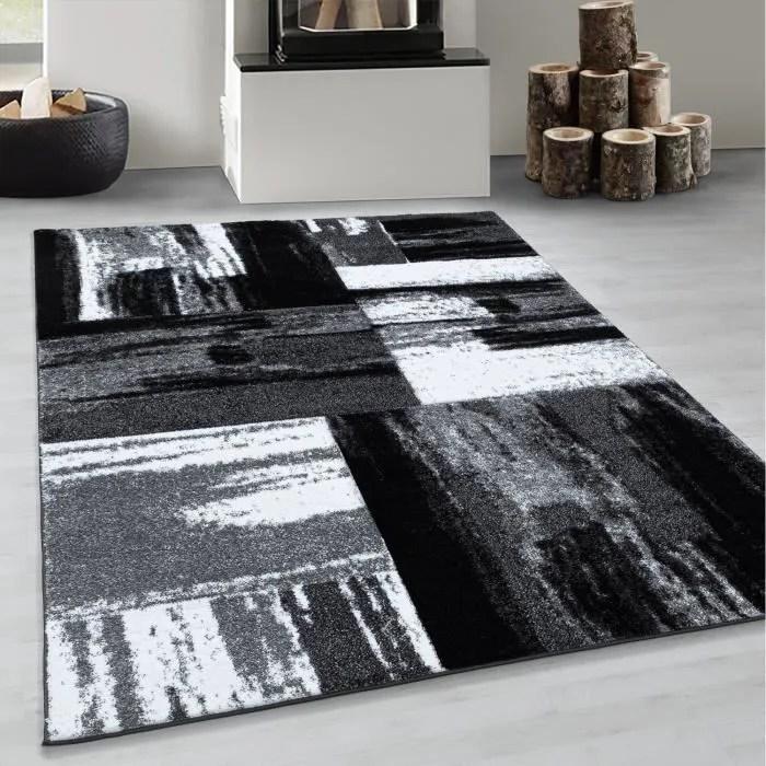 tapis de salon a poils courts tapis abstrait desig