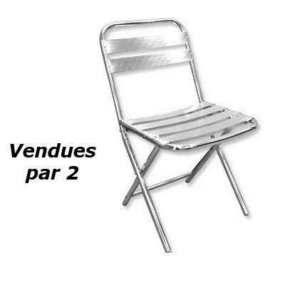 chaise aluminium pliante lot de 2 par 2