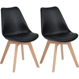 chaises design noir achat vente