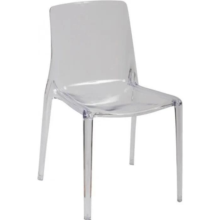 chaise polycarbonate design transparent