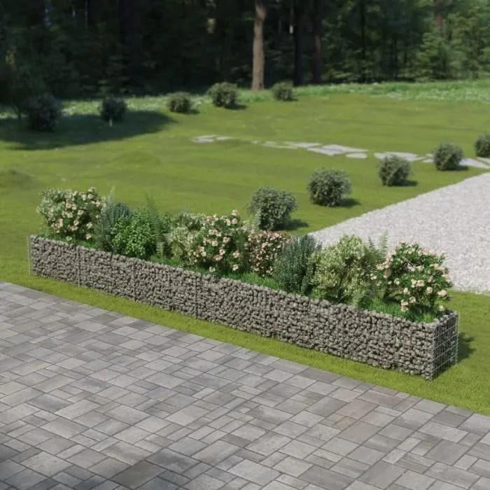 jardiniere a gabion decoration jardin terrasse par