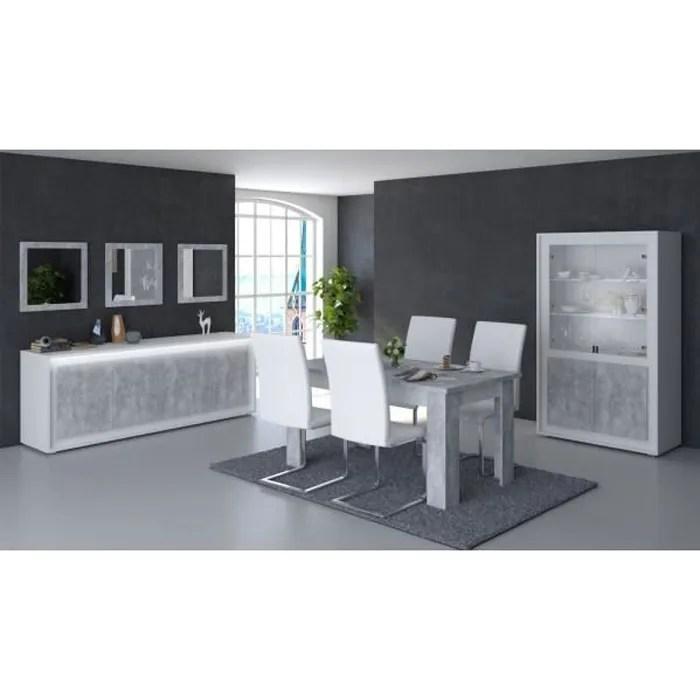 meuble salle a manger blanc et bois