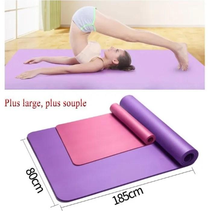 185 80cm tapis de yoga large tapis de sol gym soup