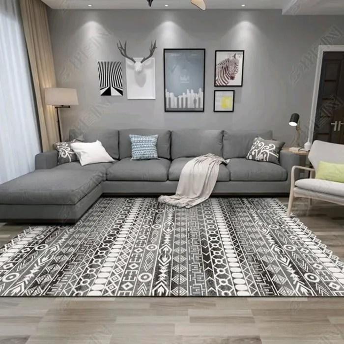 tapis salon 100 200cm grand tapis berbere geometri