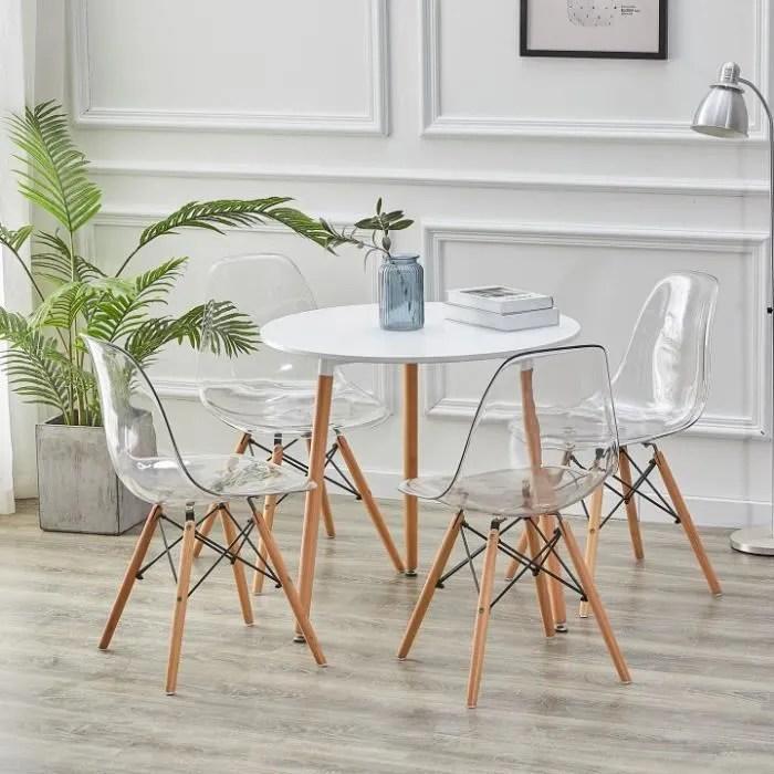 table a manger ronde en bois extensible