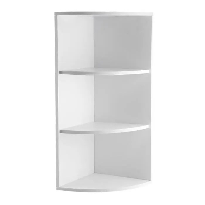 etagere d angle meuble de rangement a 3 niveaux salle de bain