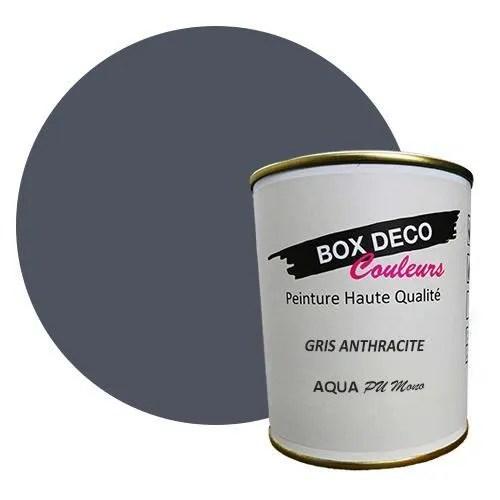 peinture exterieure sur bois couleur gris anthracite