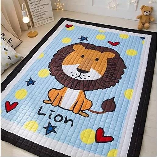 tapis de jeu jouet pour enfant epais grand dessine