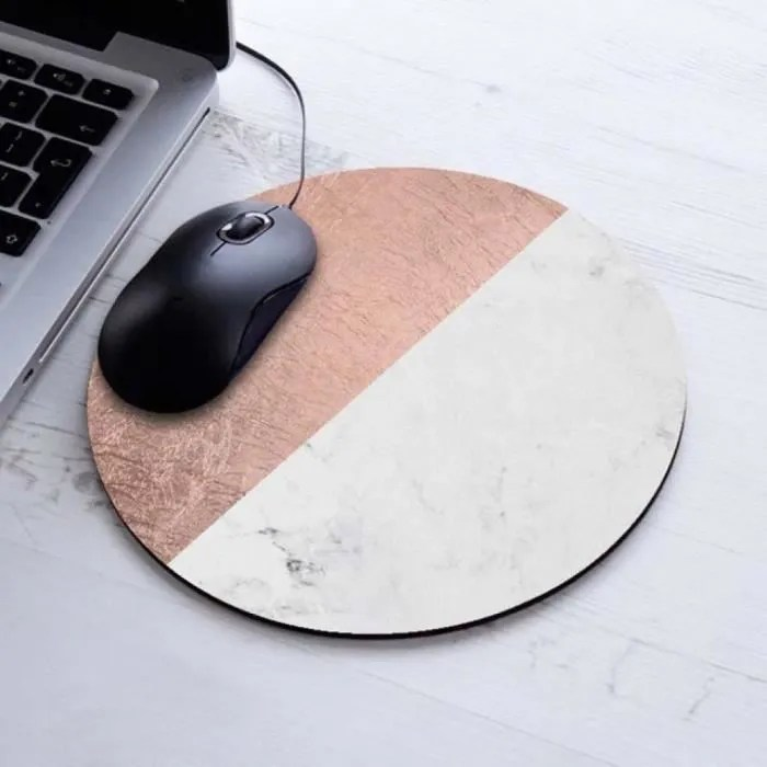 tapis de souris design moderne faux or