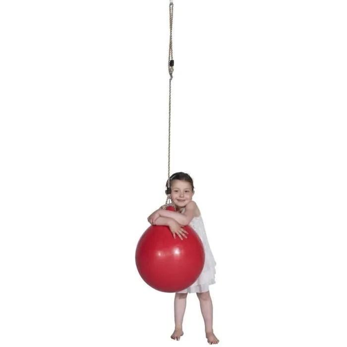 accessoires pour balancoires et portiques trigano balancoire sous forme de balle swing ball j 900555