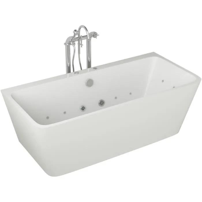 baignoire hydromassante 170x75x58cm design bla