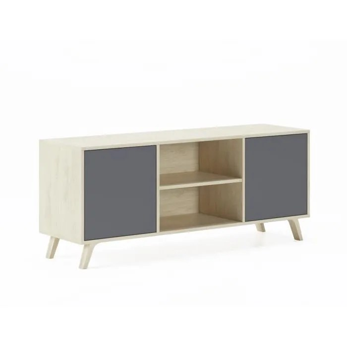 meuble tv 140 avec 2 portes salon modele wind c