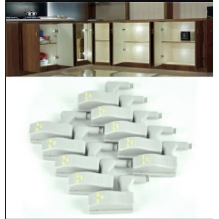 eclairage de meuble 10pcs charnieres a led armoire placard penderie lumiere charniere lumiere maison cuisine june tek