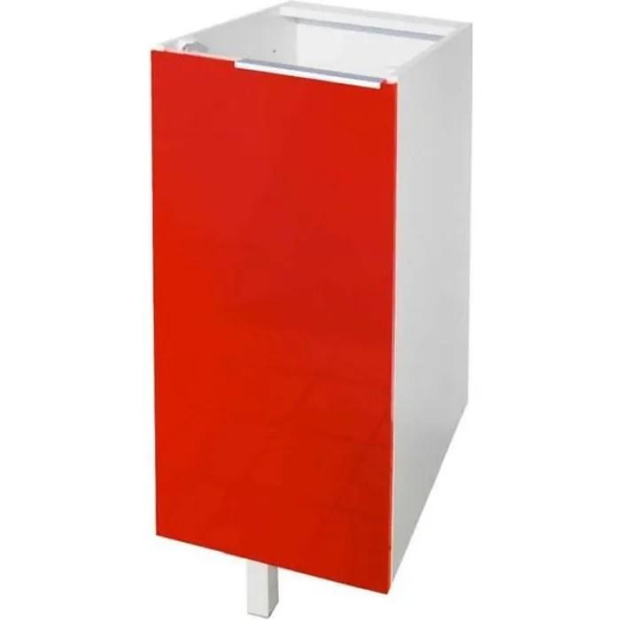 meuble bas 1 porte 30cm rouge
