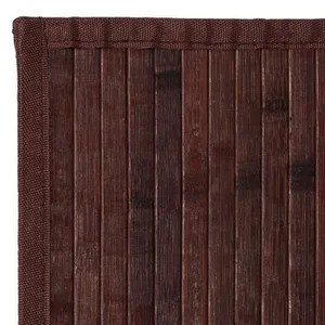 80 x 150 cm msv tapis bambou marron