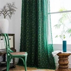double rideau vert