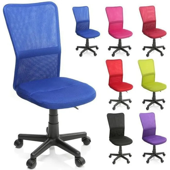 tresko chaise de bureau bleu fauteuil de bureau hauteur reglable pivotante