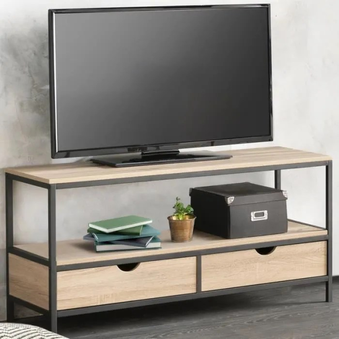 meuble tv detroit design industriel