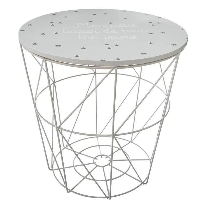 table de rangement kumi gris pour enfant petit bazar autres gris