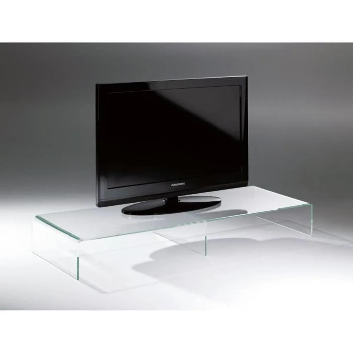 console tv tv rack en acrylique haute qualite transparent 80 x 40 cm h 15 cm l epaisseur de l acrylique 8 mm