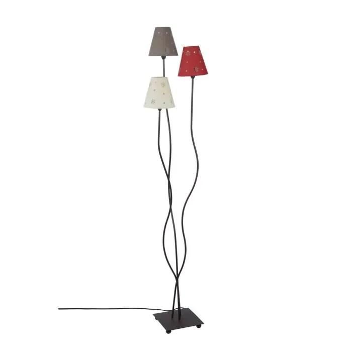 lampe lampadaire avec 3 abat jours